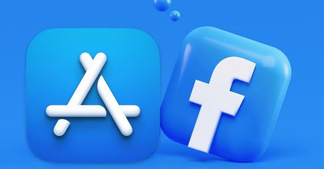 Apple vs Facebook logos