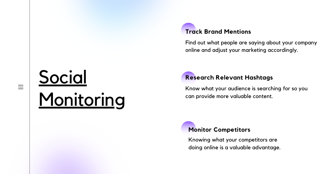 Infographic explaining social media monitoring