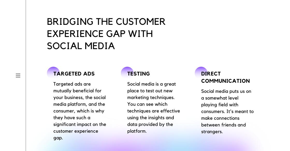 Infographic describing social media marketing
