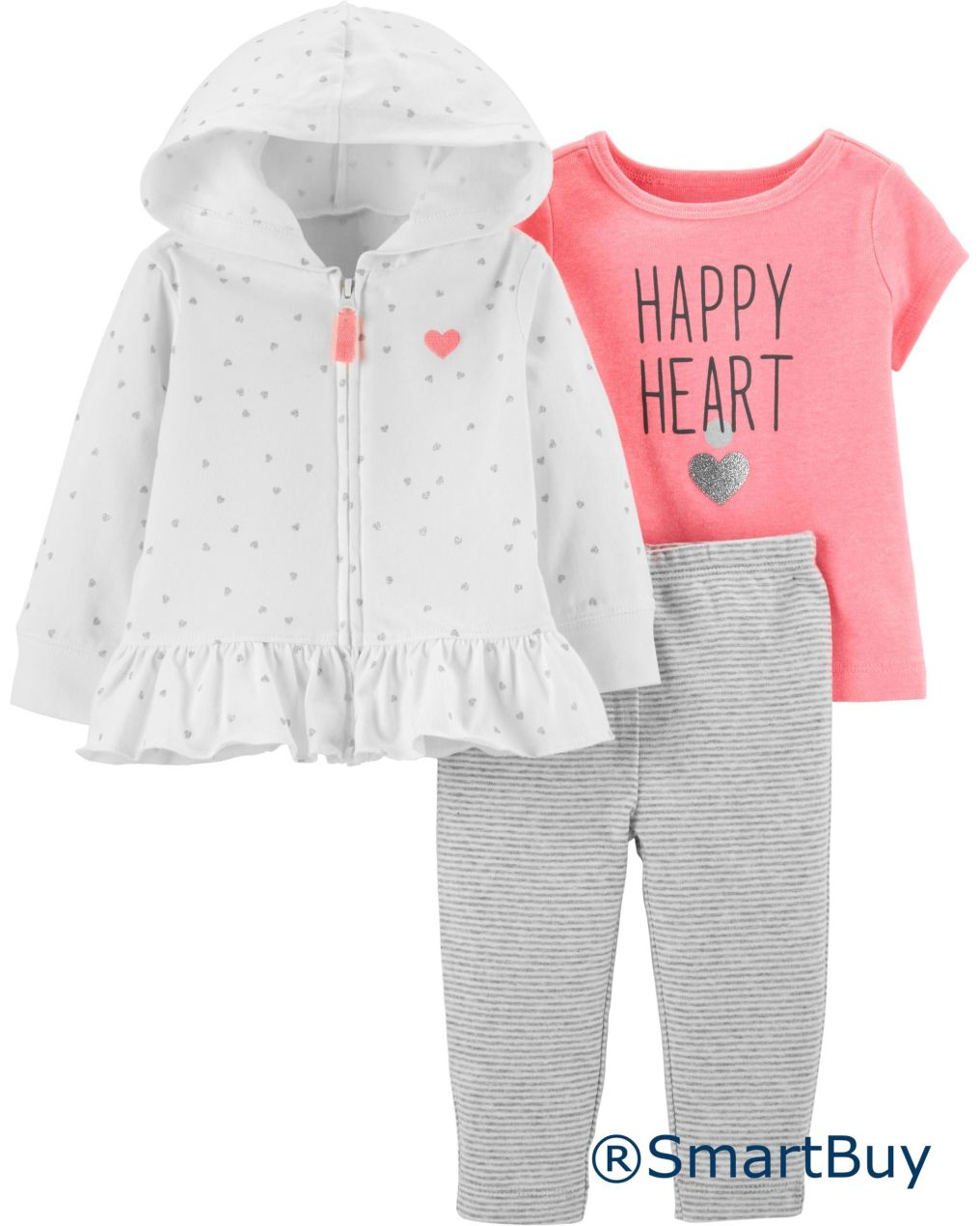 3-Piece Heart Cardigan Set