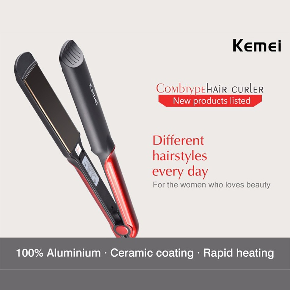 Kemei Επαγγελματικό Σίδερο Πρέσα Μαλλιών με Κεραμικές Πλάκες  8eac39d1137