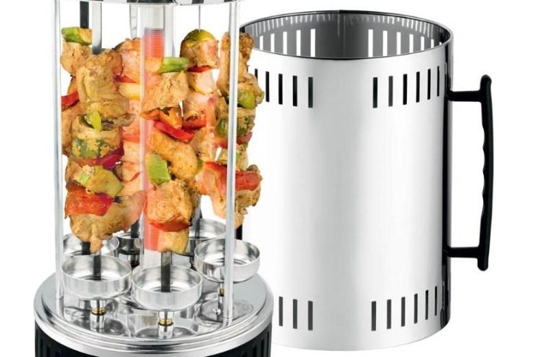 Ηλεκτρική Κάθετη Ψησταριά Barbeque Grill για Σουβλάκια Κεμπάπ και Λαχανικά Euro Star