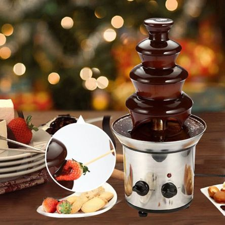 Σιντριβάνι Fondue Σοκολάτας 4 Επίπεδα από Ανοξείδωτο Ατσάλι Chocolate Fondue Fountain