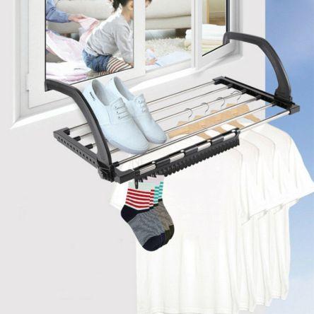 Αναδιπλούμενη Απλώστρα Ρούχων Μπαλκονιού/Καλοριφέρ με Ρυθμιζόμενους Βραχίονες Radiator Drying Rack