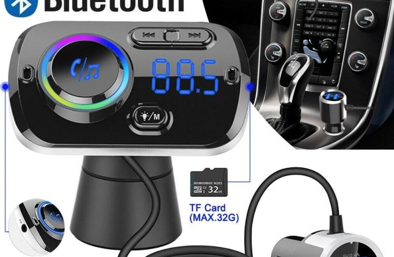 Ασύρματο Bluetooth 5.0 EDR Handsfree MP3 Player Aυτοκινήτου με 7 LED Φωτισμό USB 5V 3.0A BC39BQ