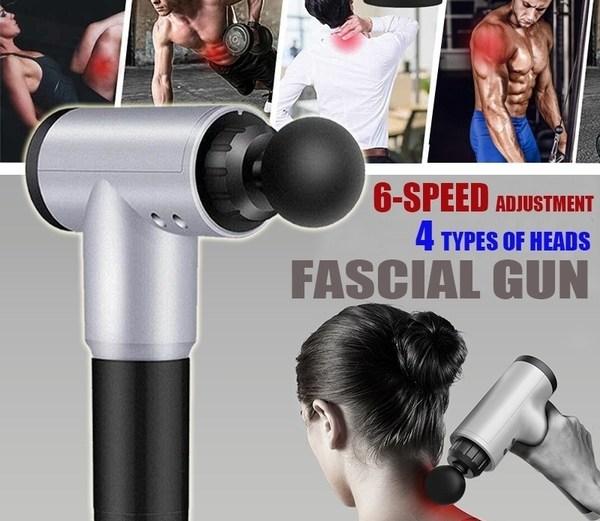 Φορητή Συσκευή Δονήσεων για Μασάζ, Ενδυνάμωση & Αποκατάσταση Μυών Fascial Gun Muscle Massage Vibration Training