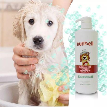 Σαμπουάν Σκύλων για Λευκό Τρίχωμα 350ml Nunbell