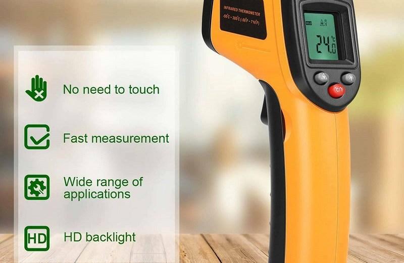 Ψηφιακό θερμόμετρο Υπερύθρων με Laser – Digital Laser Infrared Thermometer