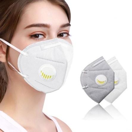 Μάσκα 3D KN95 Υψηλής Προστασίας FFP2 με Βαλβίδα Εκπνοής Πολλαπλών χρήσεων