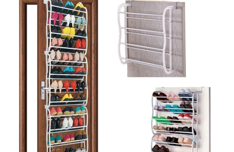 Κρεμαστή Παπουτσοθήκη Πόρτας 36 Ζευγαριών Over Door Shoes Rack