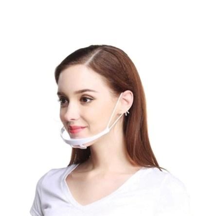 Διάφανη Πλαστική Προσωπίδα Στόματος – Πιγουνιού Αντιθαμβωτική Πολλαπλών Χρήσεων