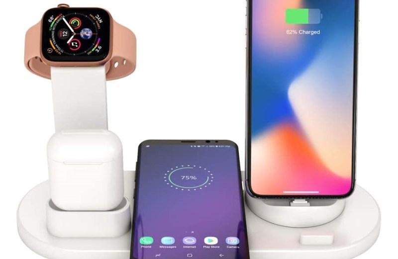 Πολυλειτουργική Ασύρματη Βάση Φόρτισης 5 σε 1 – Multi-Function Charging Stand for iPhone/Micro USB/Type-C Phone & iWatch/AirPods