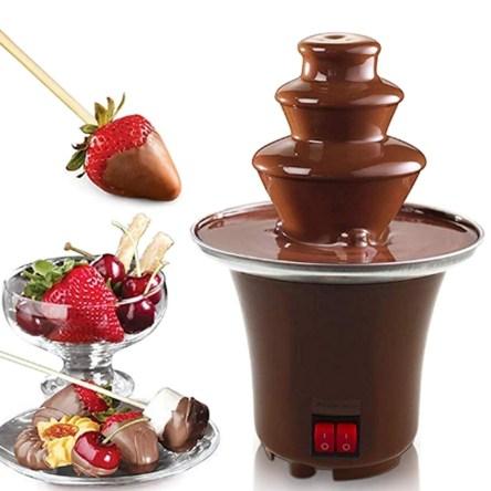 Mini Συντριβάνι για Fondue Σοκολάτας 3 Επιπέδων Από Ανοξείδωτο Χάλυβα Chocolate Fondue Fountain