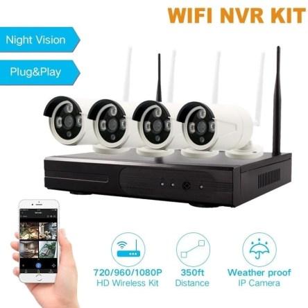 Σετ WiFi Σύστημα CCTV IP 4 Κάμερες HD 5G NVR Kit LYLU