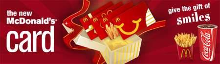 McDonald's Canada Card: Free Medium fries or Drink
