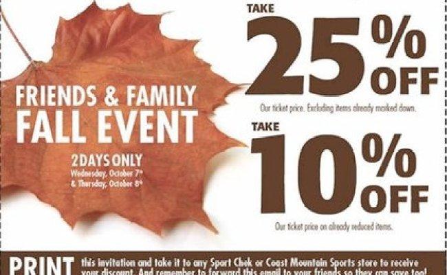 Sportchek Canada Friends Family Sale Oct 7 8 Plus 5x