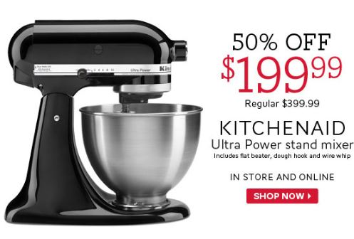kitchen aid coupons sherwin williams paint for cabinets the bay canada mixer 50 off thru july 26th canadian buy this awesome