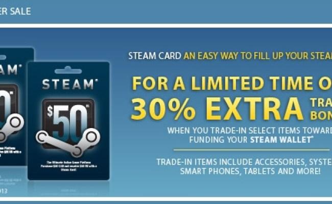 Eb Games Get 30 Extra Trade In Bonus Towards Steam