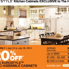 Eurostyle Kitchen Cabinets Bosch Universal Plus Machine The Home Depot Canada Sale: Save Up To 20% Off ...