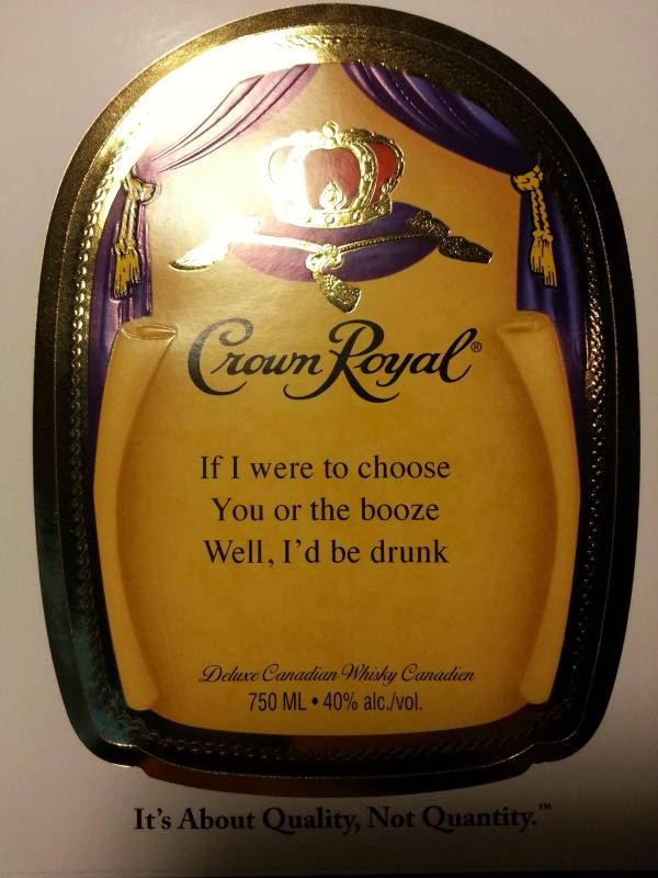 Crown Royal Canada Freebie Free Personalized Label