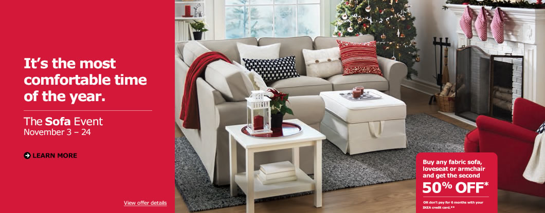comfortable sofa beds canada clean at home ikea event: buy any fabric sofa, loveseat or ...