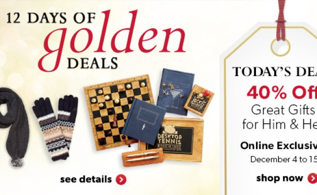Chapters Indigo Canada 12 Days Of Golden Deals Save 40