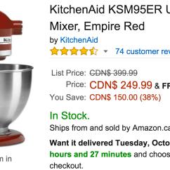 Kitchen Aid Coupons White Corian Countertops Amazon Canada Todays Deals Save 38 On Kitchenaid Ultra