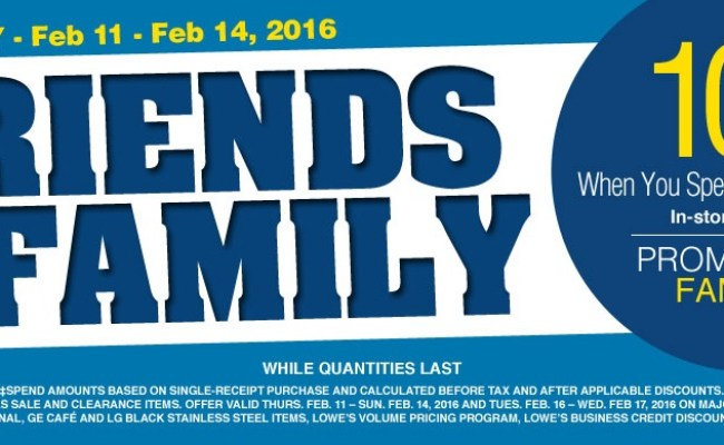 Lowe S Canada Friends And Family Event Save 10 Off