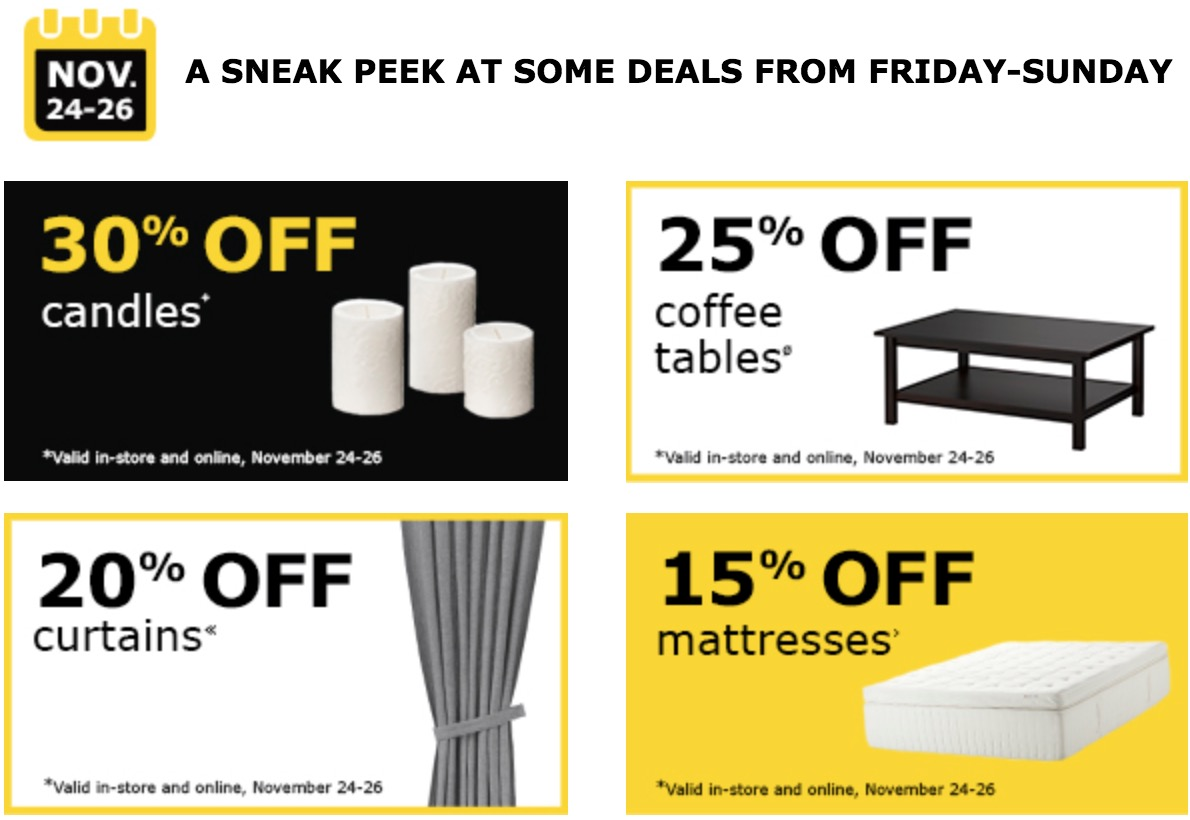 Ikea Canada Black Friday 2017 Deals 50 Off 200 Free