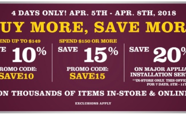 Lowe S Canada Buy More Save More Events Save Up To 125