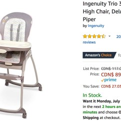 Ingenuity High Chair Canada Reviews Table Chairs Rental Amazon Deals Save 31 On Fisher Price Ford Little Power Get Trio 3 In 1 Deluxe Piper Today For 89 97 List 117 00 27 03 23 Off