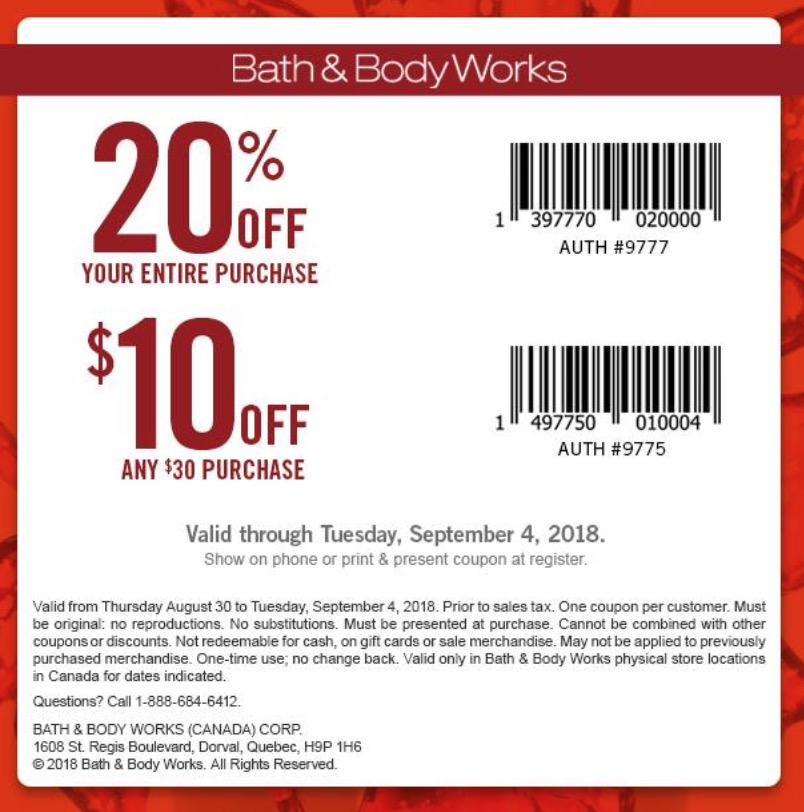 Online Bath And Body Works 20 Percent Promo Codes 2013