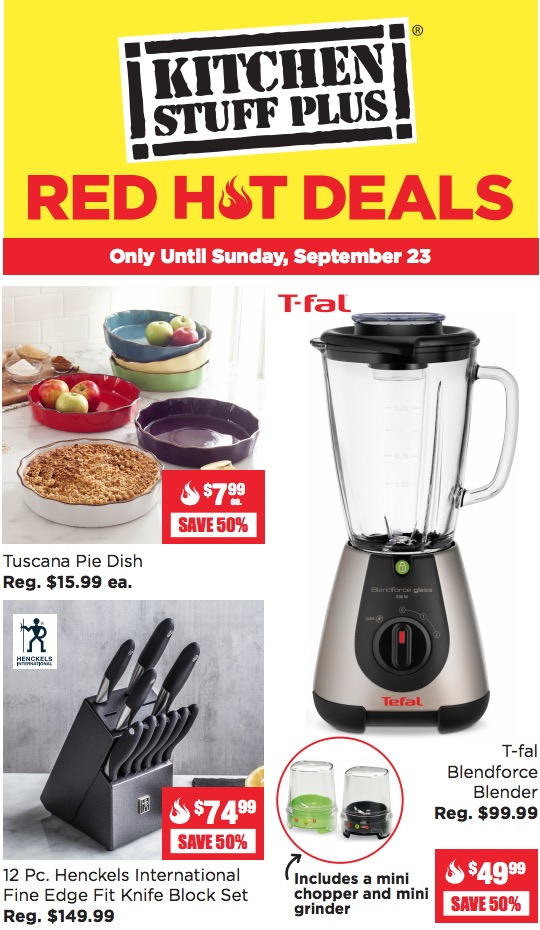 kitchen stuff on sale island design plus canada red hot 60 cuisinart toaster oven more deals