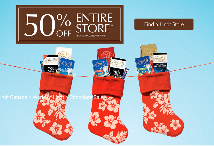 Lindt Canada Christmas In July Sale Today Save 50 Off