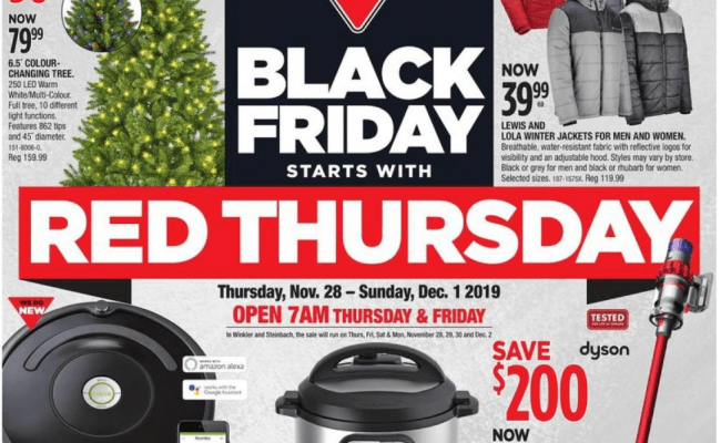 Canadian Tire Black Friday 2019 Flyers Red Thursday Sale