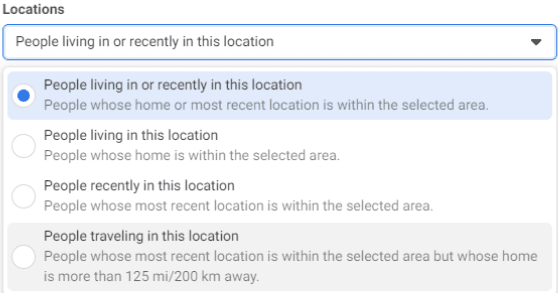 Daycare Advertising Blog Screenshot- Facebook Location Preferences