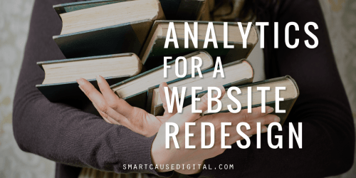 Analytics for a nonprofit website redesign