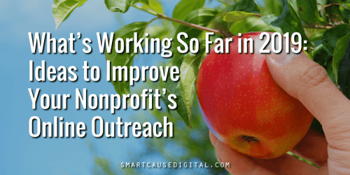 what's working so far in 2019, ideas to improve your nonprofit's online outreach