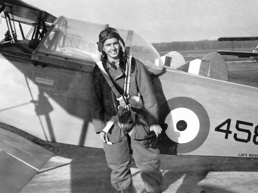 Andrew Carswell during flight training prior to his deployment to Europe.