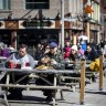 Customers flocked to the market patios to support the restaurants as Ottawa was in the red zone on day one or in the spring on Saturday, March 20, 2021.