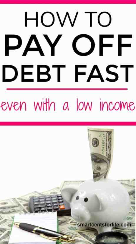 Learn these simple steps to pay off debt fast even with a low income. You could get out of debt quick with these tips on how to eliminate debt and reach financial freedom.