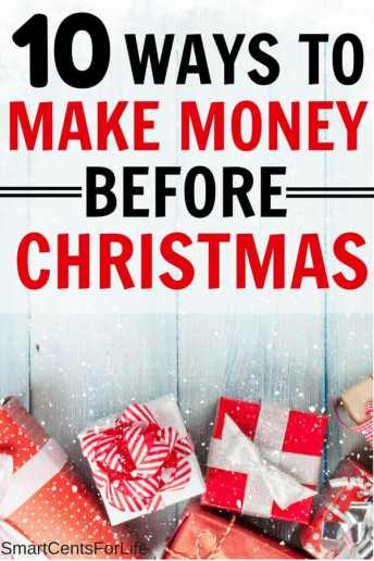 Find out 10 super easy ideas that will help you make extra money for Christmas. Have a debt free Christmas with these money tips and ideas and enjoy the Holidays without going into debt! Learn how to save money for Christmas and also how to make money before Christmas. How to save money at christmas, christmas budgeting #Christmas #frugalliving #debtfree #savingmoney