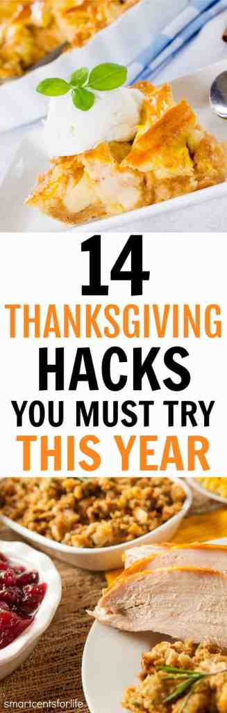 Thanksgiving can be overwhelming and stressful. These Thanksgiving hacks would make dinner easier and less hectic for the big day. These are 14 Thanksgiving hacks you must try this year!