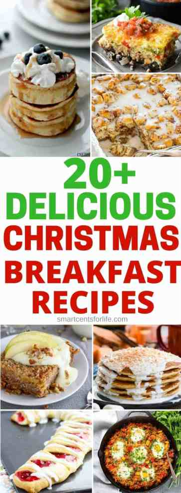 20+ Christmas breakfast recipes to enjoy these Holidays! These recipes are easy to make and they will please everyone including the kids! Whether you are looking for some Christmas breakfast ideas for Christmas morning, Christmas Eve or any other day, there are plenty of amazing Christmas breakfast and brunch ideas to choose from! #Christmasday #Christmasbreakfast #Christmasre