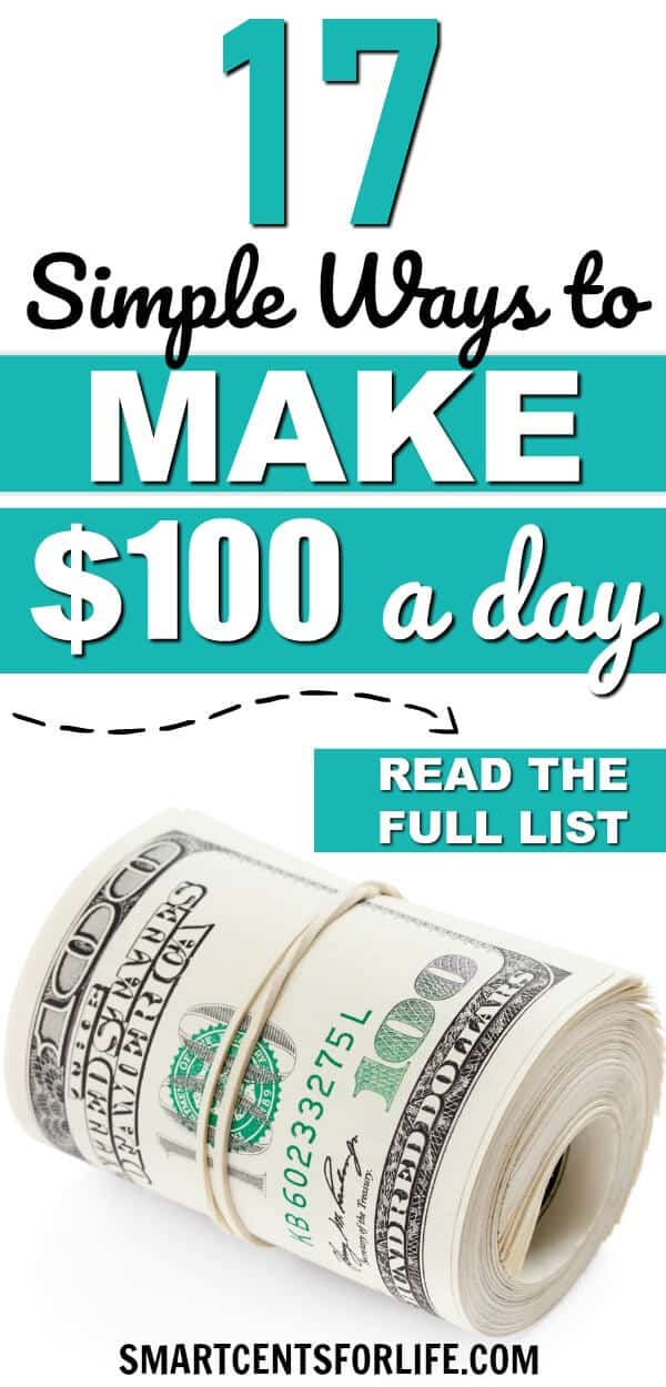 Need some ideas to make money fast? Here are the TOP 20+ creative and smart ways to make $100 fast. Try these money-making ideas and side hustles to make 100 dollars in a day or less! earn money, extra income, business ideas, work from home jobs, side jobs, work at home, make money online, make money from home #money #personalfinance #extramoney #makemoneyfast