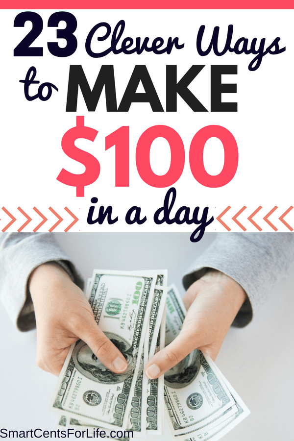 Looking for ways to make money fast? Learn how you can make an extra $100 in a day or less! 23 different side hustle and money making ideas that will help you earn $100 every day! Find out the best ideas on how you can quickly earn extra cash today!