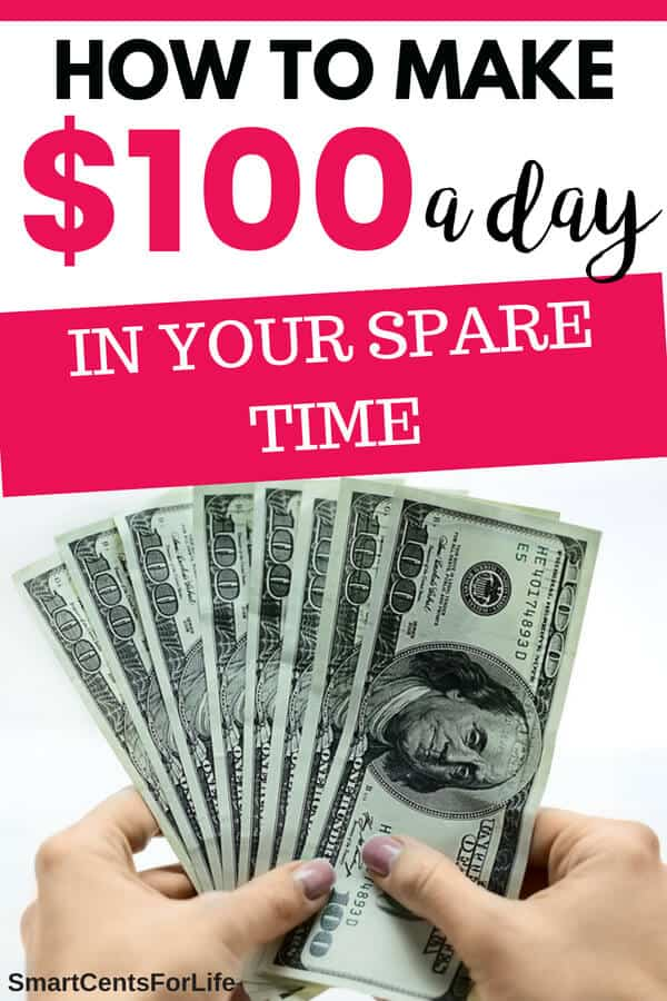 Are you looking for ways to make money fast? Check out these 17 simple ways to make 100 dollars a day!. Different money making ideas, side hustles and work at home jobs to earn extra money. Earn money, making money, work from home jobs #money #earnmoney #makingmoney #personalfinance #frugallivng