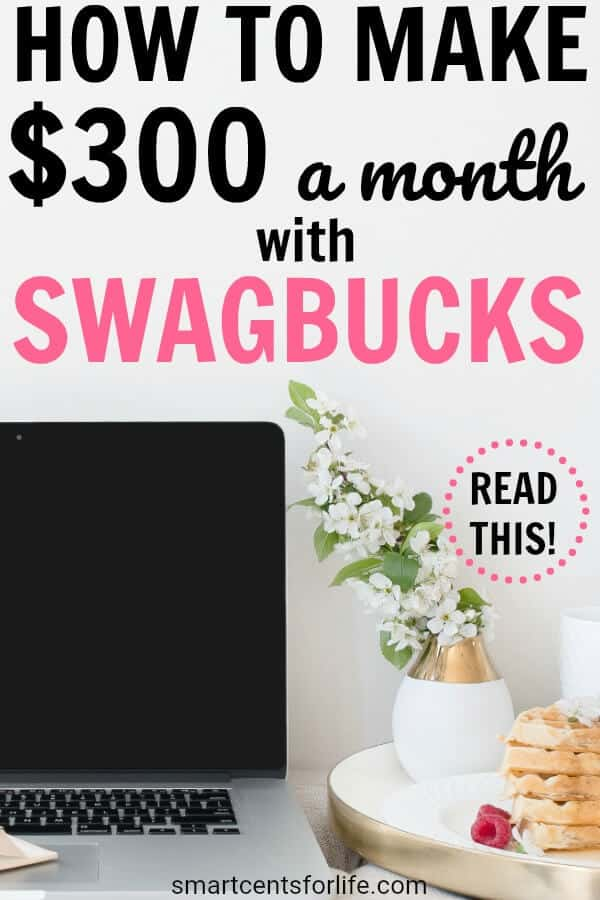 Are you looking to make extra money? Check out how you can make $300 every month with Swagbucks! This ultimate guide will show you the exact steps I take to make $300 with this side hustle! Make extra income in your spare time! work from home jobs, make money from home, make money fast.