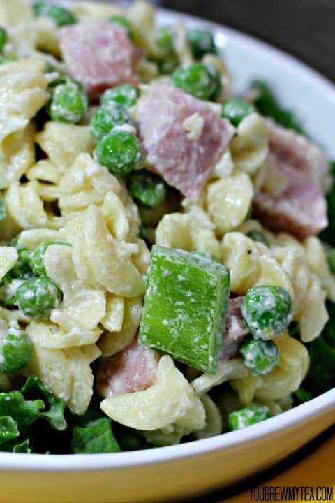 Ham Pea Pasta Salad