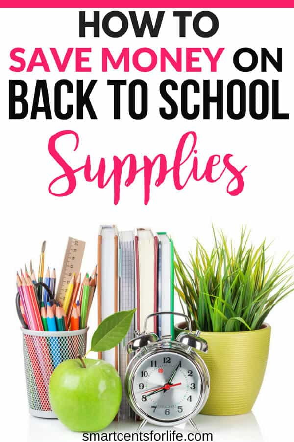 Looking to save money on back to school supplies?Find out how you can reduce your cost and save money on your back to school shopping this year. Save money on clothes, school items and more with these smart money-saving hacks. How to save money on back to school supplies, money saving tips, frugal living, budgeting, finance